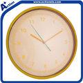 ouro amarelo decoração relógio de parede plástico
