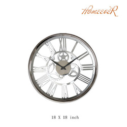 18 inch round metal aluminum large wall clock
