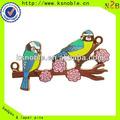 pájaro de metal logotipo de hacer que la costumbre colgantes