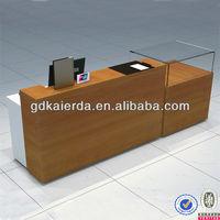 Store display fixture customized cash register desk