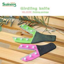 girding knife/fruit tree girding tool/wood handle tool