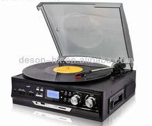 2015 hot sale record player,usb converter, turntable radio