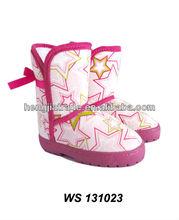 Stars printing cozy baby boot