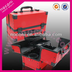 fashion 2 tone colour aluminum make up case