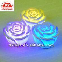 Romantic for Bath/Pool/Centerpiece/Wedding plastic floating rose Flower LED Light