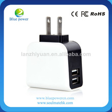 2013 Hot Selling and High Quality 5V 2.1A charger travel usb with CE and ROHS