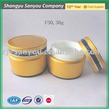 30ml purple aluminium cream jar for skin care