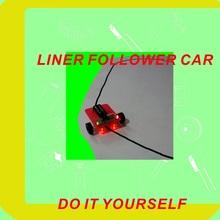 Self assembly education DIY line follower robot car kit