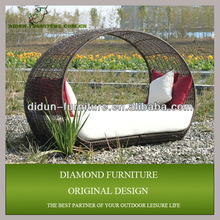 Luxurious outdoor rattan lounge sofa bed