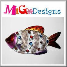 Wholesale Direct Factory Produce New Design Colorful Craft Art Gift Decor Iron Fish Art