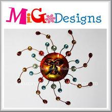 Direct Factory Produce Wholesale New Design Craft Art Gift Decor Sun Face Metal Wall Hanging