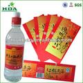 Papier adhésif d'impression d'étiquettes pour l'emballage des boissons alcoolisées