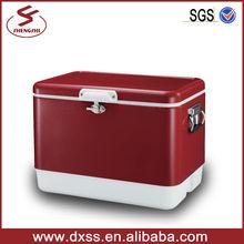 54L Retro metal cold box insulated ice cooler