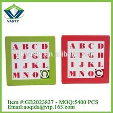 7.5 CM puzzle toys plastic sliding puzzle