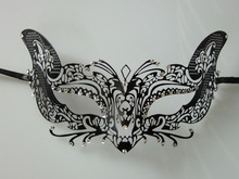 2013 new fashion fox style Metal Carnival mask