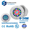 [High Quality]lower pirce 6W Surface mounted led swimming pool light, RGB Remoter controller