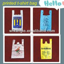 HDPE printing t-shirt shopping bag