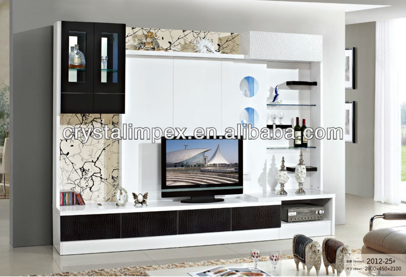 Led tv wall unit design for Farnichar design table