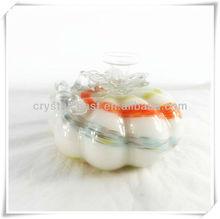 wholesale handblown hollow glass handicrafts; murano decorative glass fruits crafts; cheap glass pumpkin garden show pieces