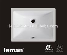 CUS1612 UPC&CSA Approved, Porcelain Sink,Ceramic 18inch Rectangular Undercounter Bathroom Basin
