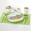porcelain ceramic dinner set with non-slip silicone base