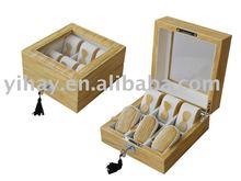 Customed wooden watch display case / Top Grade Wooden Watch Display Box