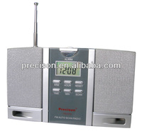 2014 Fashion Style Novelty Clock Radio with antenna and speaker