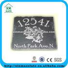 [factory direct] 20x20cm Natural Edge Printed Slate Welcome Board Item SJSB-2020SG2AP