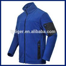 blusão novo design completo e zíper polar do velo dos homens jaqueta 2015