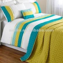 Chevron Reversible Bedspread, Teal, 140x240cm