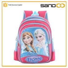 2015 girls school bags, kids Anna Elsa frozen bag, stock school bag wholesale