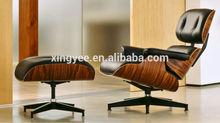 original classic swivel top grain genuine leather charles eames lounge chair