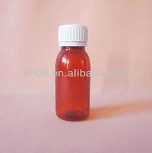 60ml Plastic Liquid Medicine Bottles With White Cap