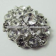 Wholesale rhinestone buttons for sofa in Fushcia Color rhinestone button covers