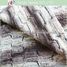 Printed Slub Embossing PV Fleece Fabric