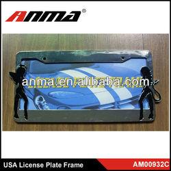 High quality USA/American Standard car license plate frame/car number plate frame