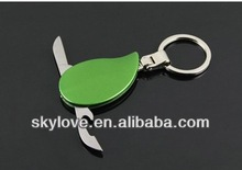 promotional metal keychain pocket knife tool