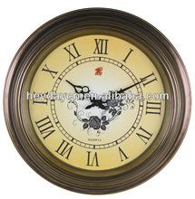 2014 retro antique plastic wall clocks(HD-2012)