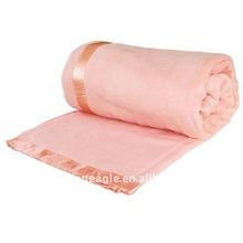 2015 Fashion Pure Girl's Pink Silk Edge Blanket