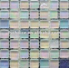 مختلط الألوان 25x25 الكريستال والزجاج بلاط الموزاييك