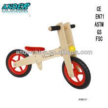 Wooden kids balance bike Kid balance bicycle Wooden baby walker (Accept OEM service)
