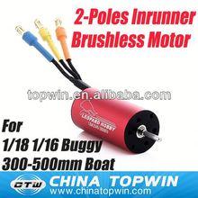 2-Poles Inrunner moteur Brushless pour 1/18 1/16 échelle buggy, 300 mm - 500 mm bateau Brushless Motor hobby [ LBA2040 ]
