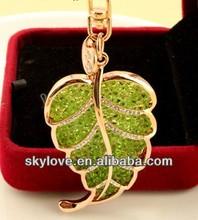 fashion leaf metal keychain key chain