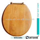17inch solid wood oak wood round toilet seat cover WDU1001