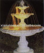 White garden water fountain