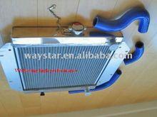 2 rows radiator and radiator hose kit for suzuki samurai 86-89