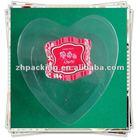 Clear Plastic PVC heart shape Gift Box Packaging