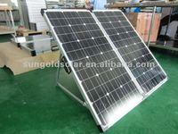 High power 200w portable folding solar panel kit