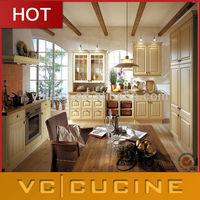 Guangzhou cream color PVC Module kitchen