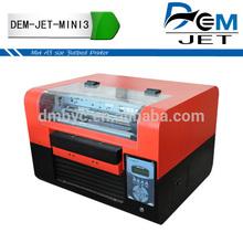 2015 Hot flatbed best digital inkjet textile/fabric black T-shirt printer/printing machine